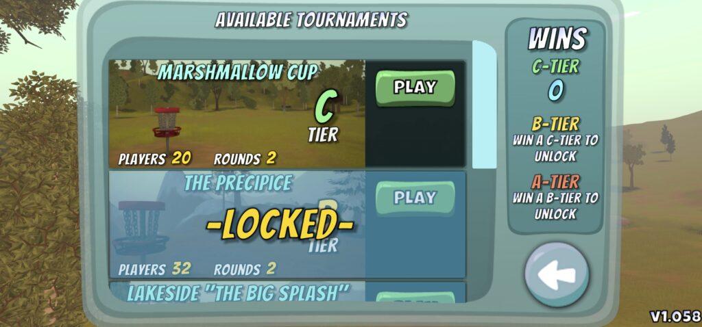 Disc Golf Valley AI tournaments game mode