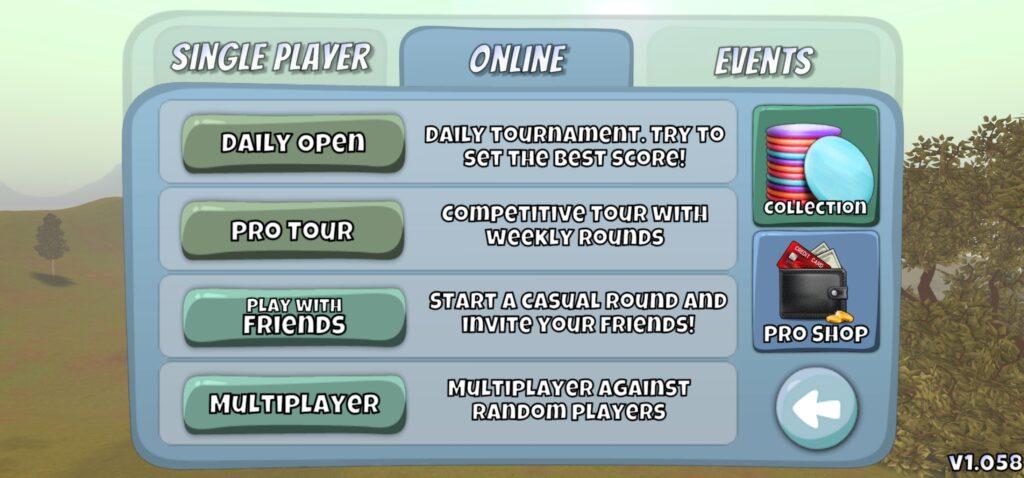 Disc Golf Valley Online game mode