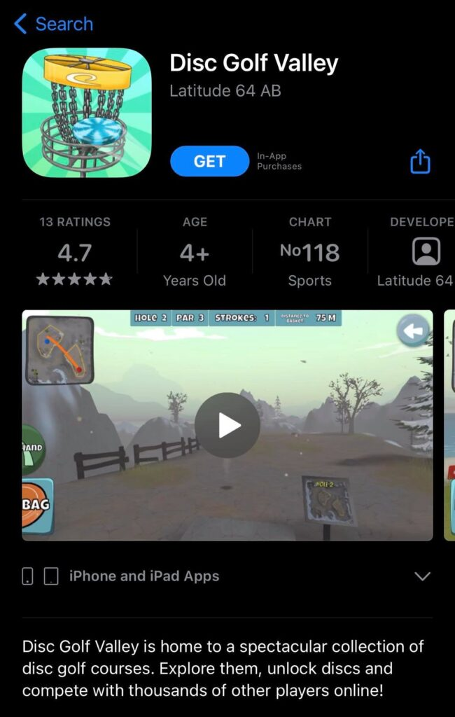 Disc Golf Valley in the App Store