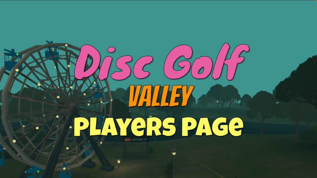 Disc Golf Valley Players Page Facebook group
