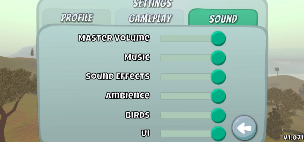 Disc Golf valley settings sound