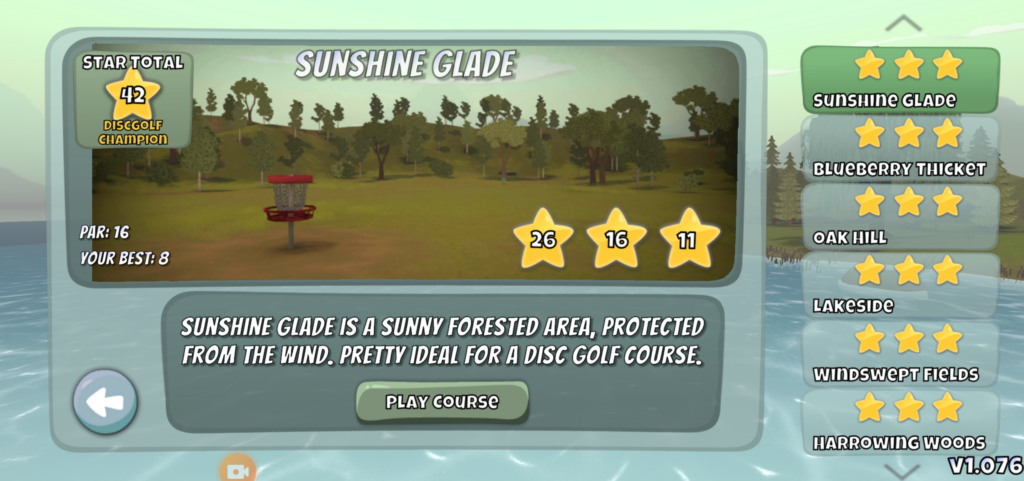 Disc Golf valley gamemodes