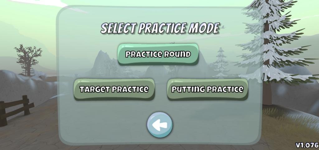 Disc Golf Valley Practice mode