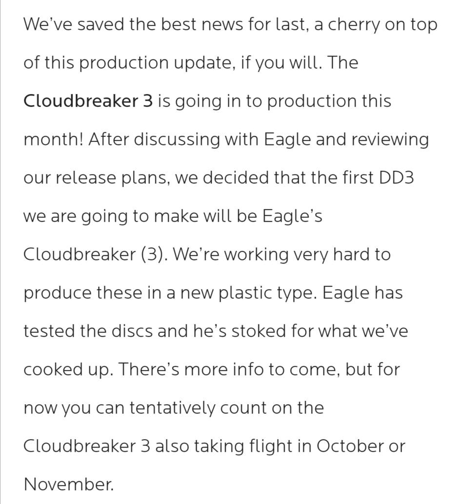 Discmania Cloudbreaker 3