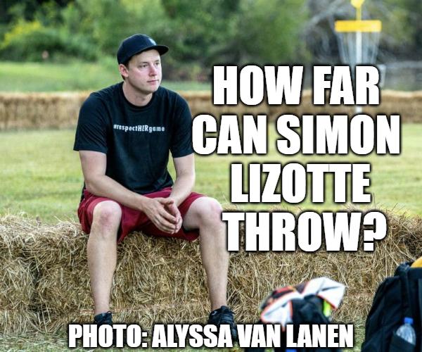 How far can Simon Lizotte throw 3